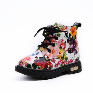 Floral Girls Boots