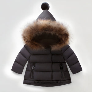 Winter Coat Faux Fur Collar