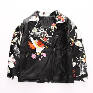 PU Leather Jacket Embroidery