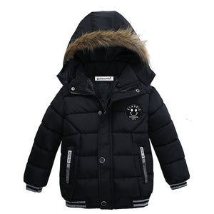 Boy Winter Faux Fur Coat