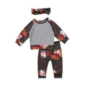 Floral Jogging Set + Headband