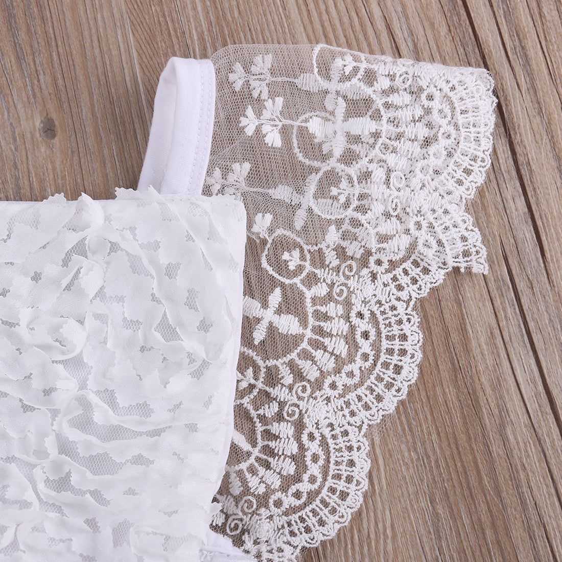 Romper Lace Bow Ruffle