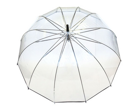 Grand parapluie transparent Amoureux