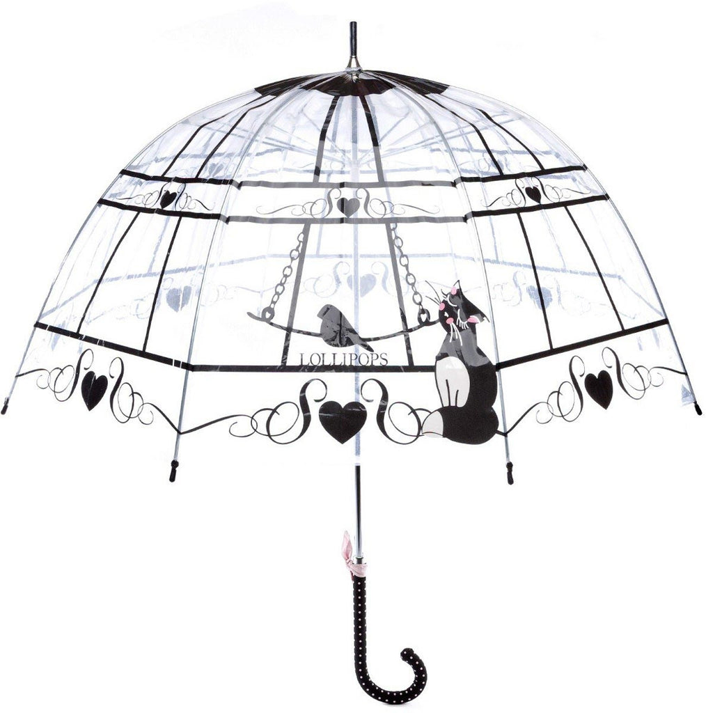 Parapluie transparent canne Lollipops Nest - Parapluies de filles