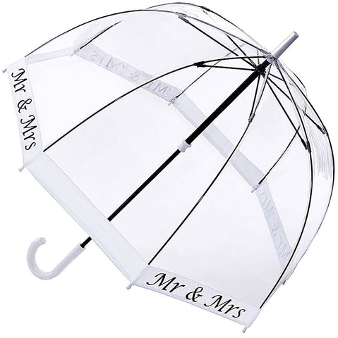 Parapluie transparent canne Fulton Mr and Mrs - Liseret blanc - Parapluies de filles
