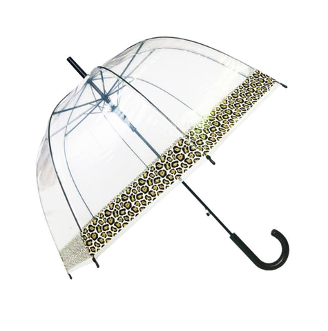 Parapluie transparent canne Panther border - Parapluies de filles