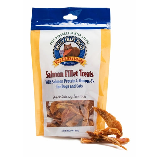 Grizzly Salmon Fillet Treats for Cats and Dogs