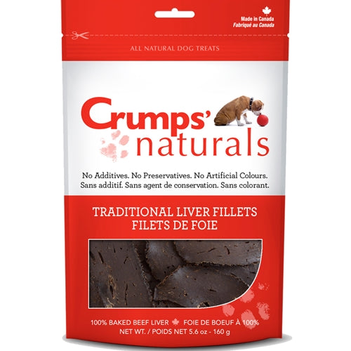 Crumps Traditional Liver Fillets Dog Treats