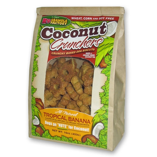 K9 Granola Factory Coconut Crunchers Tropical Banana Formula