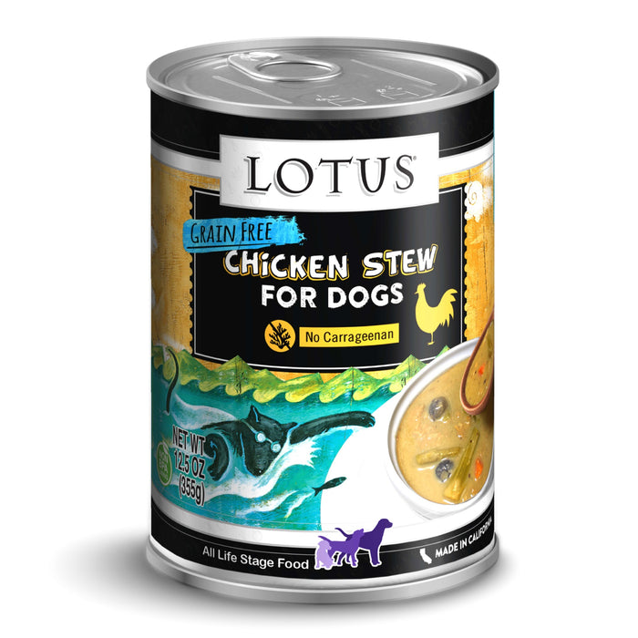 Lotus Grain Free Chicken Stew Canned Dog Food