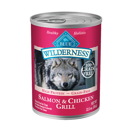 Blue Buffalo Wilderness Grain Free Salmon & Chicken Grill Can Dog Food