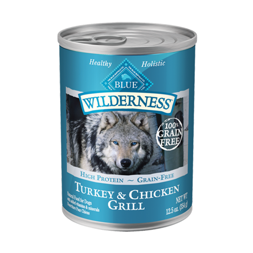 Blue Buffalo Wilderness Grain Free Turkey & Chicken Grill Can Dog Food