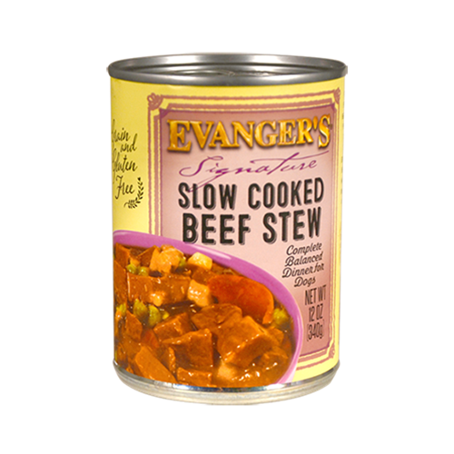 Evangers Grain Free Signature Series Super Premium Beef Chunks Dinner & Gravy Canned Dog Food
