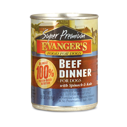 Evangers Grain Free Super Premium Beef Dinner Canned Dog Food