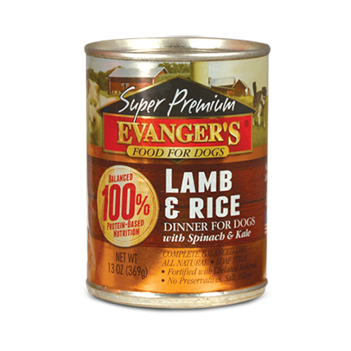 Evangers Super Premium Lamb and Rice Dinner Gold Line Canned Dog Food