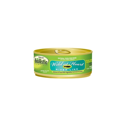 Precise Holistic Complete Wild at Heart River Salmon and Trout Dog Cans