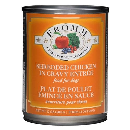 Fromm Four-Star Nutritionals® Shredded Chicken in Gravy Entrée Food for Dogs