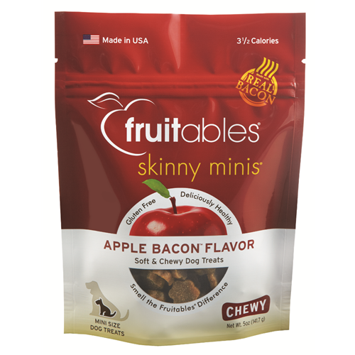 Fruitables - Skinny Minis Apple Bacon Chewy Treat