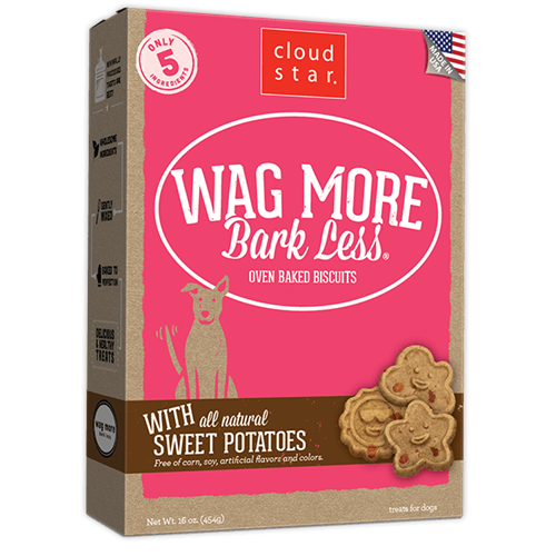 Cloud Star Original Wag More Bark Less Sweet Potato Dog Treats