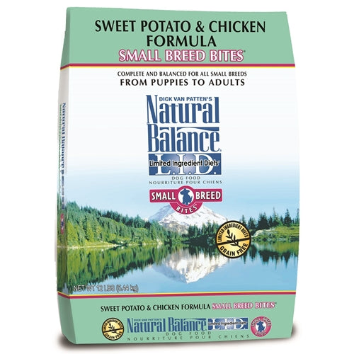 Natural Balance Grain Free L.I.D. Sweet Potato and Chicken Small Breed Formula