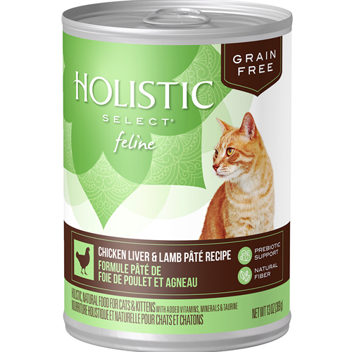 Holistic Select Feline Grain Free Chicken Liver & Lamb Pate Recipe