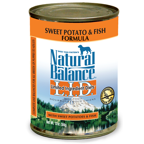 Natural Balance Grain Free L.I.D. Sweet Potato and Fish Canned Dog Food