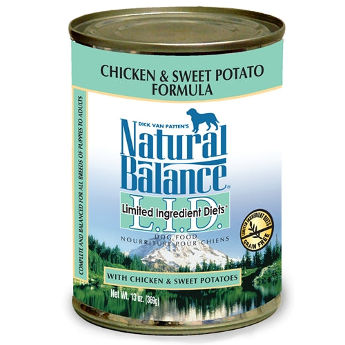Natural Balance Grain Free L.I.D. Chicken and Sweet Potato Canned Dog Food