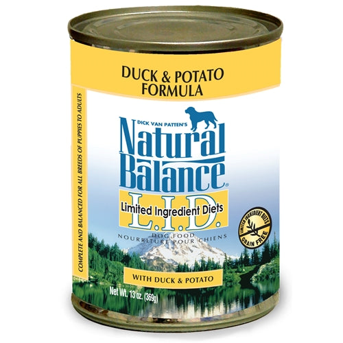 Natural Balance Grain Free L.I.D. Duck and Potato Canned Dog Food