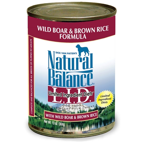 Natural Balance L.I.D. Wild Boar and Brown Rice Canned Dog Food