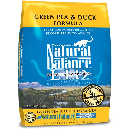 Natural Balance L.I.D. Green Pea and Duck Formula for Cats