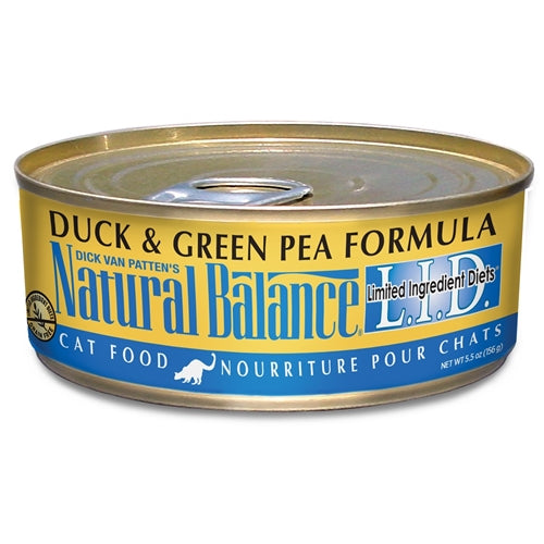 Natural Balance L.I.D. Duck and Green Pea Canned Cat Food
