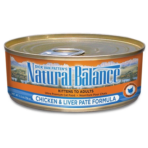 Natural Balance Chicken and Liver Pate Formula Canned Cat Food