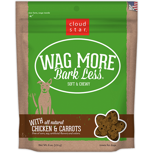 Cloud Star Wag More Bark Less Soft & Chewy Treats - Chicken Pot Pie Flavor