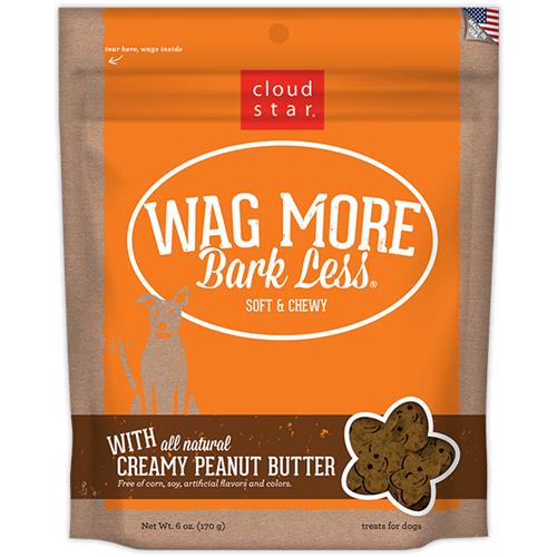 Cloud Star Wag More Bark Less Soft & Chewy Treats - Peanut Butter Flavor