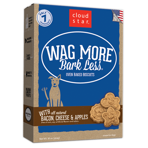 Cloud Star Wag More Bark Less Oven Baked Treats - Apple Bacon Flavor