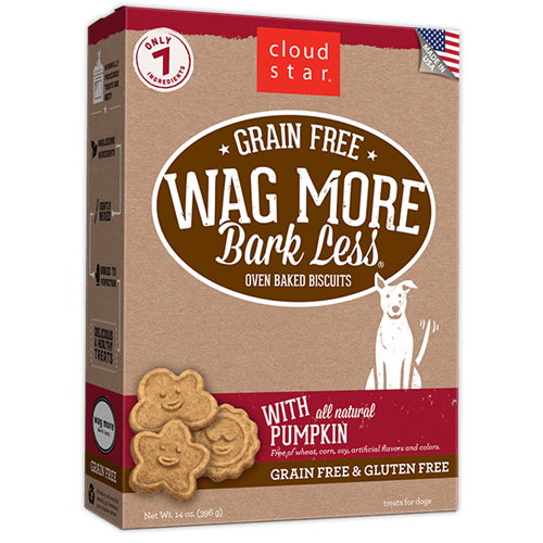 Cloud Star Wag More Bark Less Oven Baked Pumpkin Dog Treats