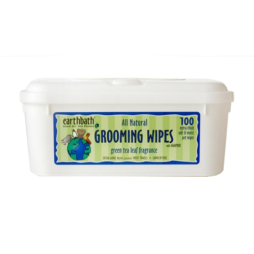 Earthbath Green Tea Grooming Wipes for Dogs