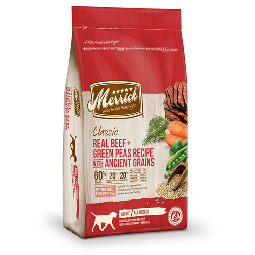 Merrick Classic Beef and Green Peas with Ancient Grains Adult Dog Dry Formula