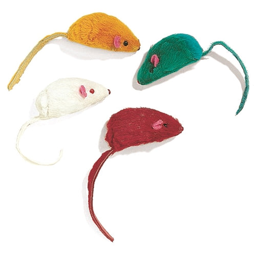 Ethical Pets Colored Plush Mice Cat Toys