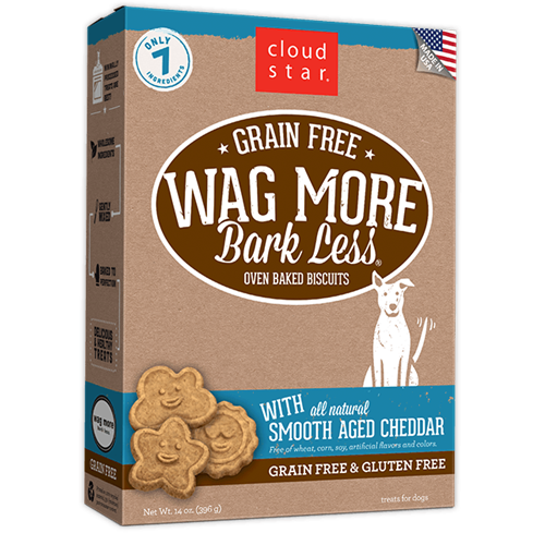 Cloud Star Grain Free Oven Baked Cheddar Cheese Dog Treats