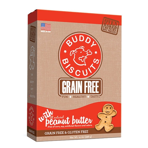 Cloud Star Grain Free Oven Baked Peanut Butter Dog Treats