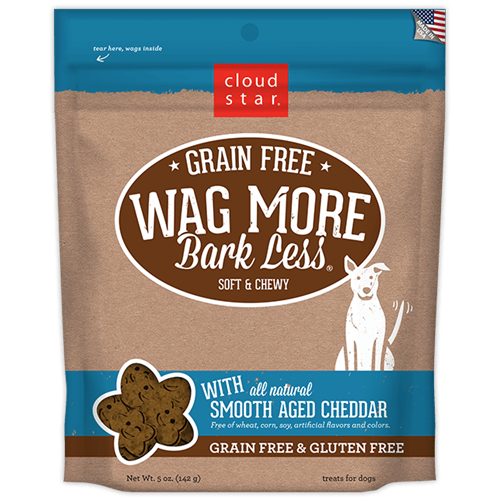 Cloud Star Grain Free Soft & Chewy Cheddar Cheese Dog Treats