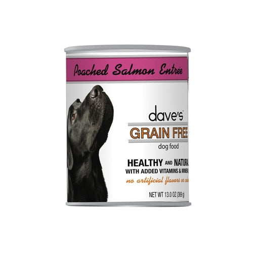 Dave's Pet Food Grain Free Poached Salmon Entree Canned Dog Food