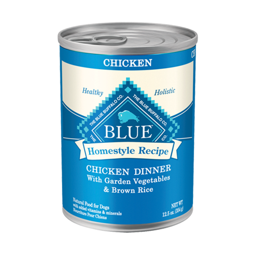 Blue Buffalo Homestyle Recipe Chicken Dinner with Garden Vegetables & Brown Rice For Adult Dogs