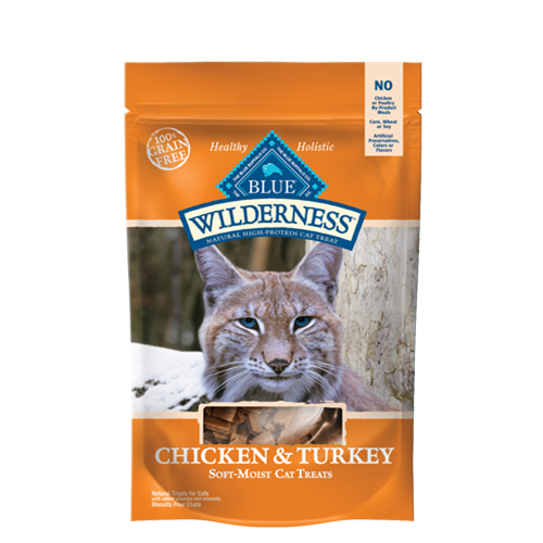 Blue Buffalo Wilderness Chicken and Turkey Natural Soft and Moist Cat Treats