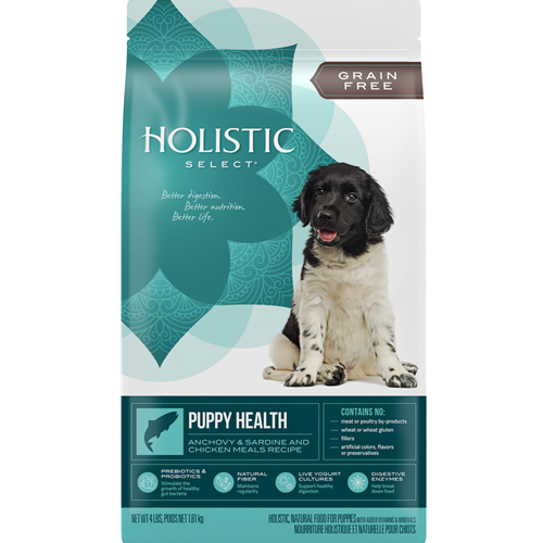 Holistic Select Grain Free Puppy Health Anchovy, Sardine & Chicken Meal Recipe