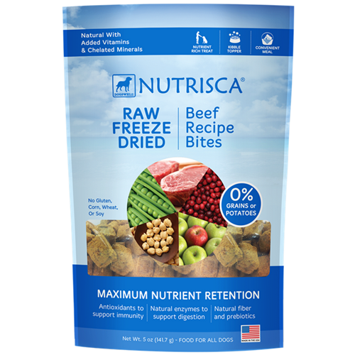 Dogswell Nutrisca Raw Freeze Dried Beef Recipe Bites