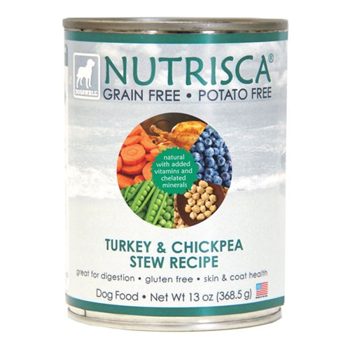 Dogswell Nutrisca Grain Free Turkey and Chickpea Stew Recipe Dog Cans