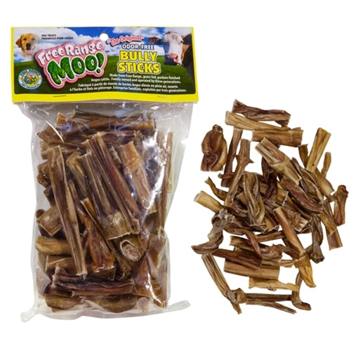 Free Range Dog Chews Moo! Packaged Bully Bites