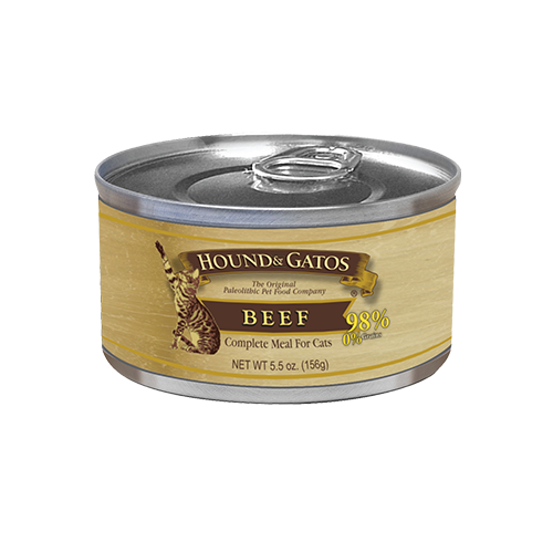 Hound & Gatos Grain Free Beef Canned Cat Food